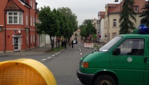Einlasskontrollen Grimma, Wurzener Straße