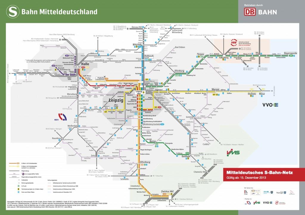 S-Bahn Mitteldeutschland Liniennetz